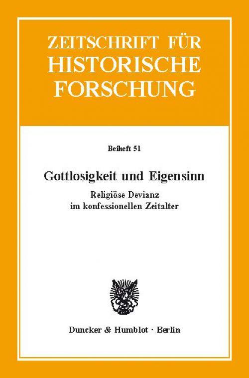 Gottlosigkeit und Eigensinn. cover