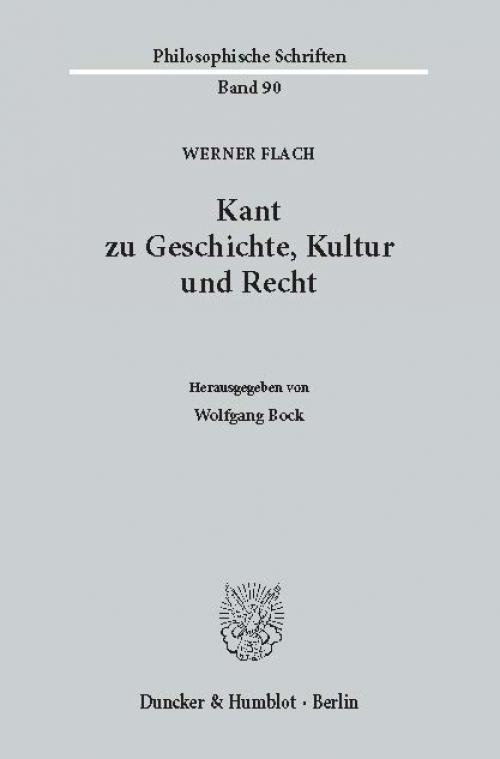 Kant zu Geschichte, Kultur und Recht. cover