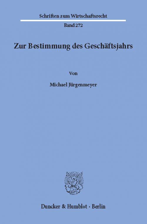 Zur Bestimmung des Geschäftsjahrs. cover