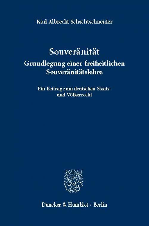 Souveränität. cover