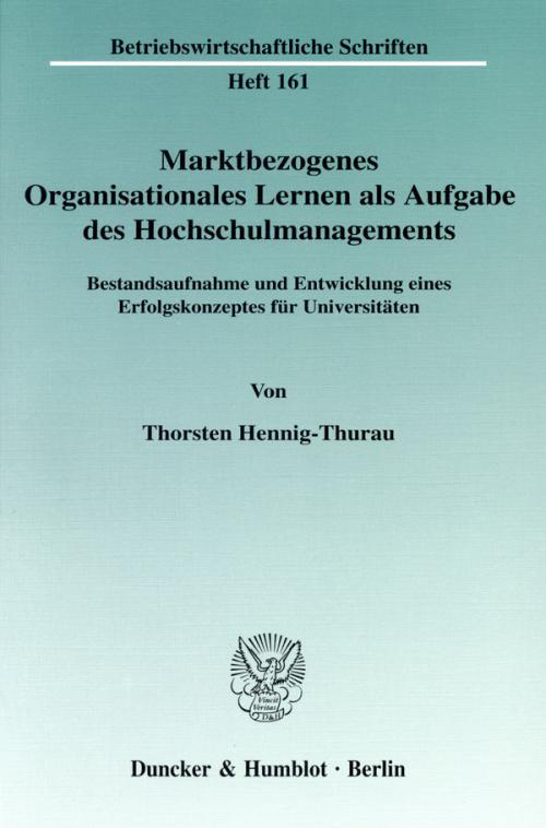 Marktbezogenes Organisationales Lernen als Aufgabe des Hochschulmanagements. cover