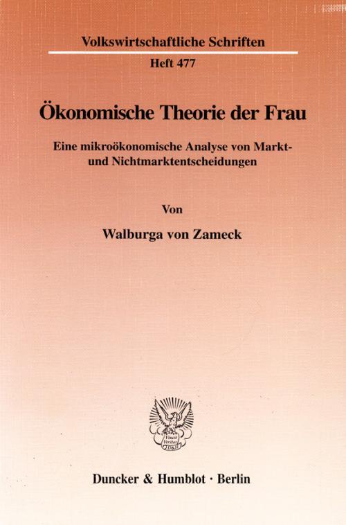 Ökonomische Theorie der Frau. cover