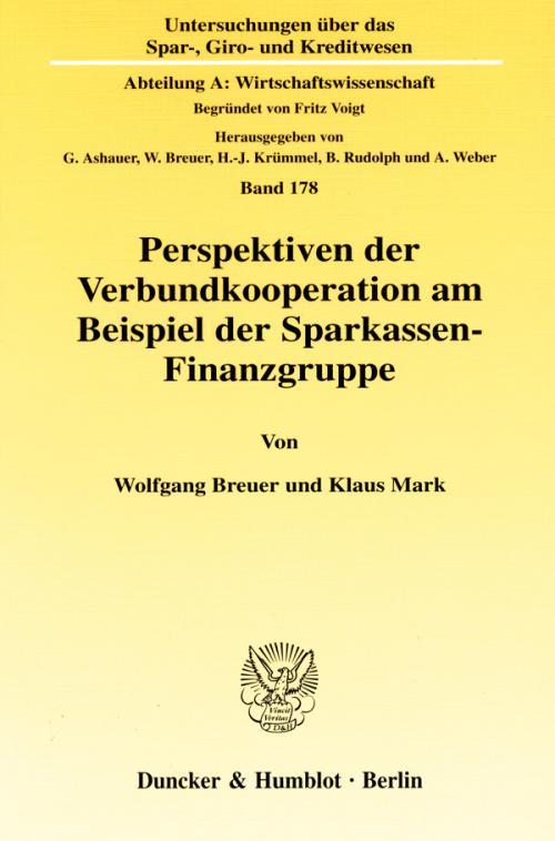Perspektiven der Verbundkooperation am Beispiel der Sparkassen-Finanzgruppe. cover