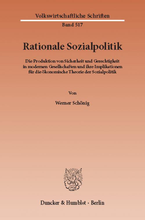 Rationale Sozialpolitik. cover