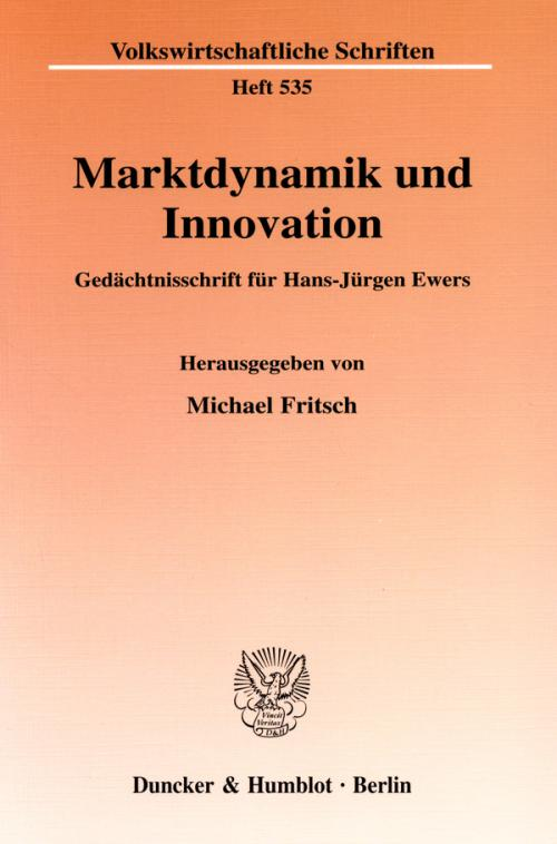 Marktdynamik und Innovation. cover