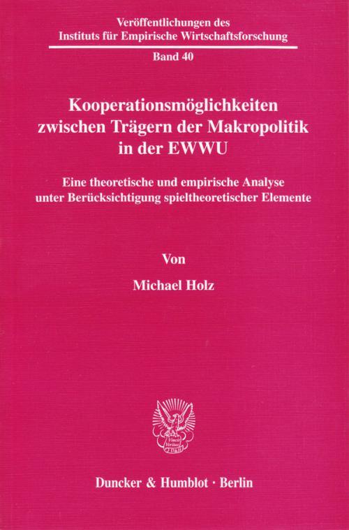 Kooperationsmöglichkeiten zwischen Trägern der Makropolitik in der EWWU. cover