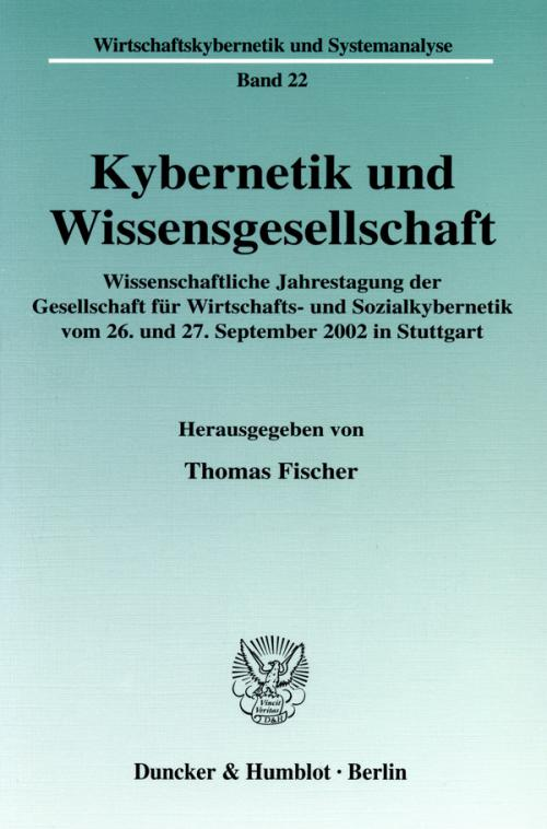 Kybernetik und Wissensgesellschaft. cover