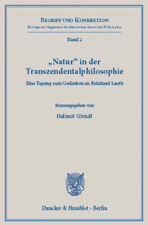 »Natur« in der Transzendentalphilosophie. cover