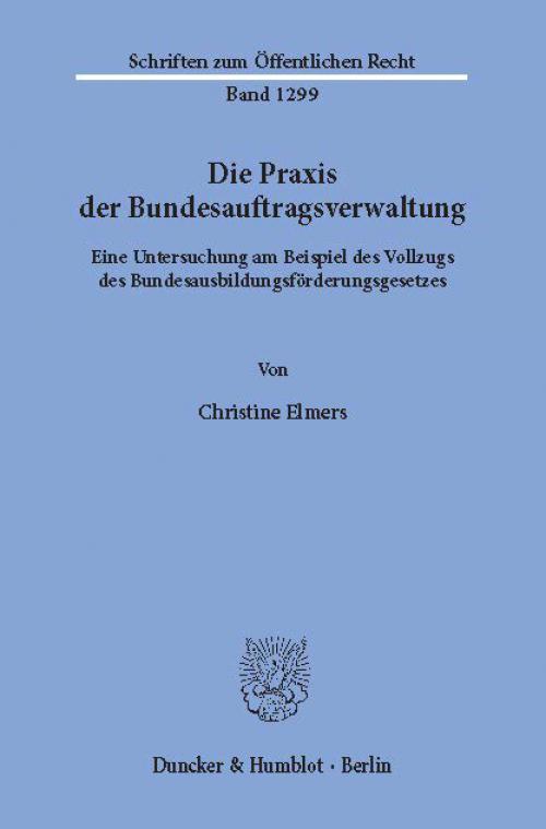 Die Praxis der Bundesauftragsverwaltung. cover