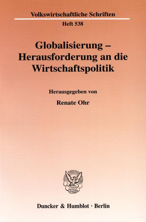 Globalisierung - Herausforderung an die Wirtschaftspolitik. cover