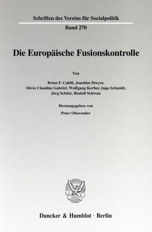 Die Europäische Fusionskontrolle. cover