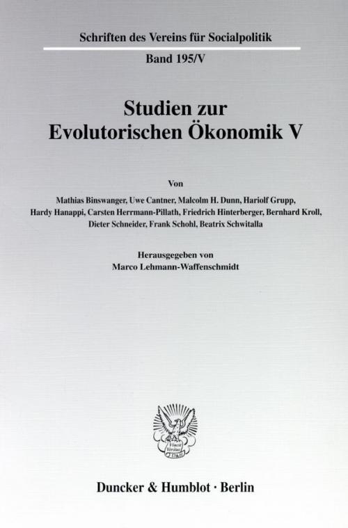 Studien zur Evolutorischen Ökonomik V. cover