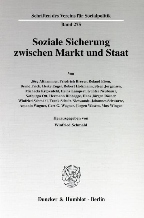 Soziale Sicherung zwischen Markt und Staat. cover