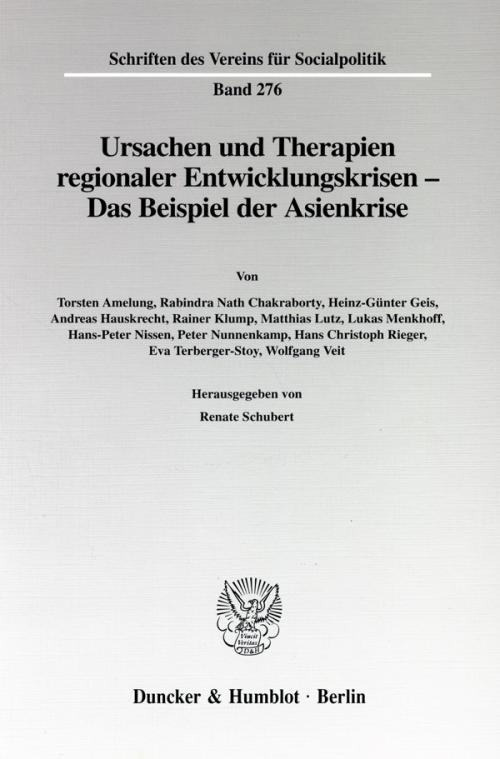 Ursachen und Therapien regionaler Entwicklungskrisen - cover