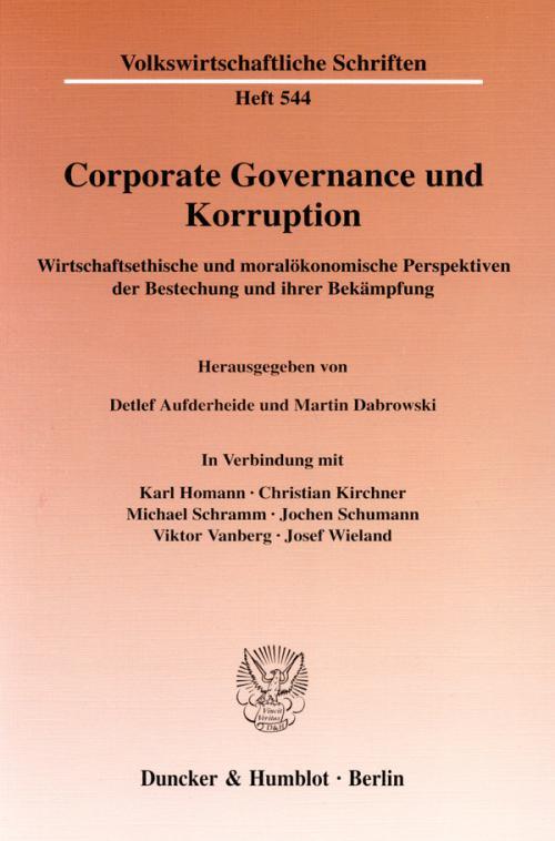 Corporate Governance und Korruption. cover