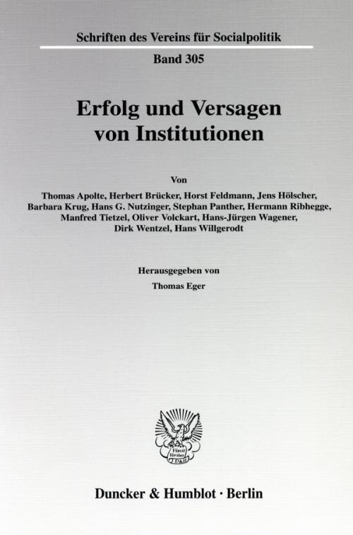 Erfolg und Versagen von Institutionen. cover