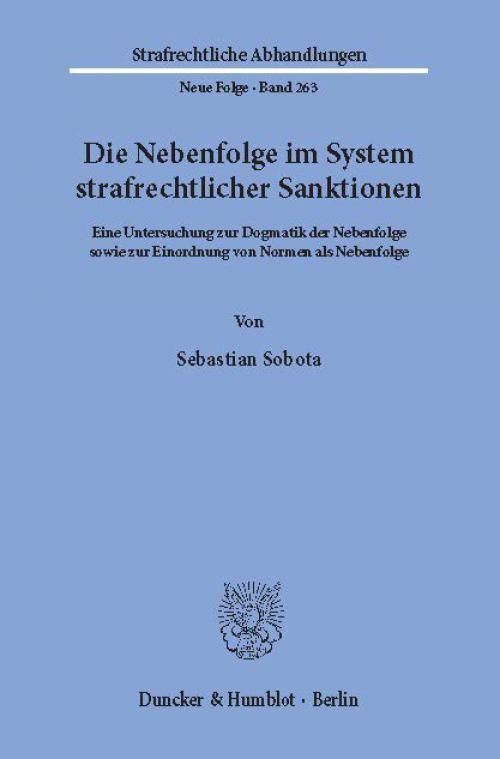 Die Nebenfolge im System strafrechtlicher Sanktionen. cover