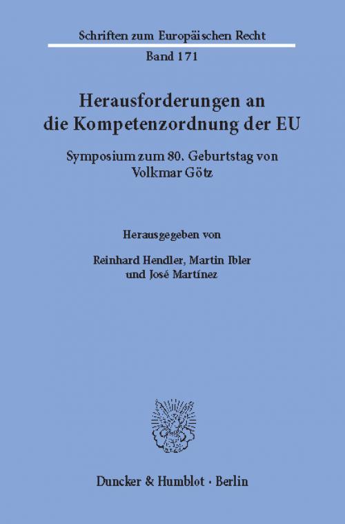 Herausforderungen an die Kompetenzordnung der EU. cover