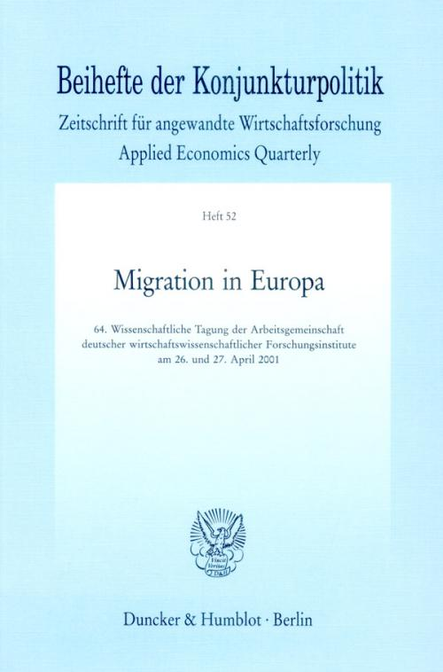 Migration in Europa. cover