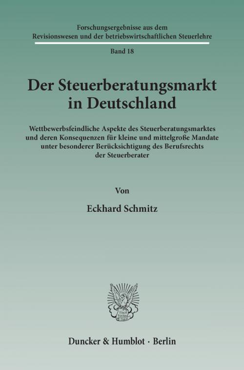 Der Steuerberatungsmarkt in Deutschland. cover