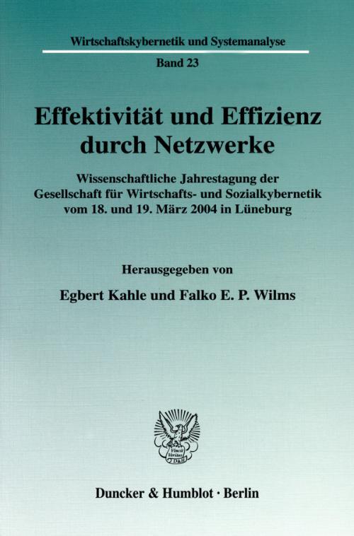 Effektivität und Effizienz durch Netzwerke. cover