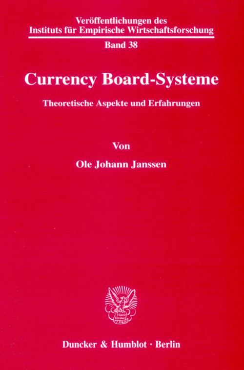 Currency Board-Systeme. cover
