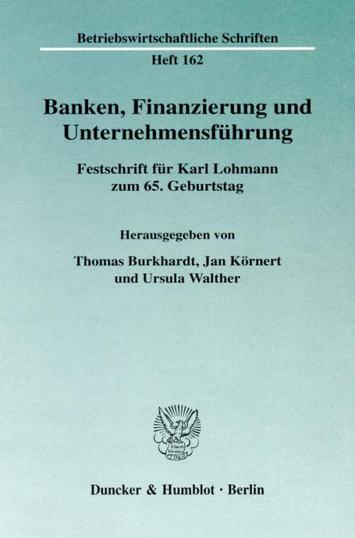 Banken, Finanzierung und Unternehmensführung. cover