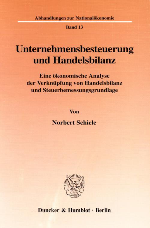 Unternehmensbesteuerung und Handelsbilanz. cover
