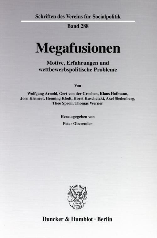 Megafusionen. cover
