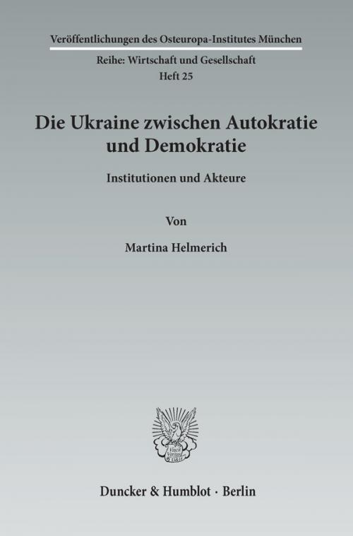 Die Ukraine zwischen Autokratie und Demokratie. cover