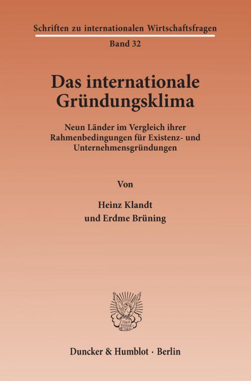 Das Internationale Gründungsklima. cover