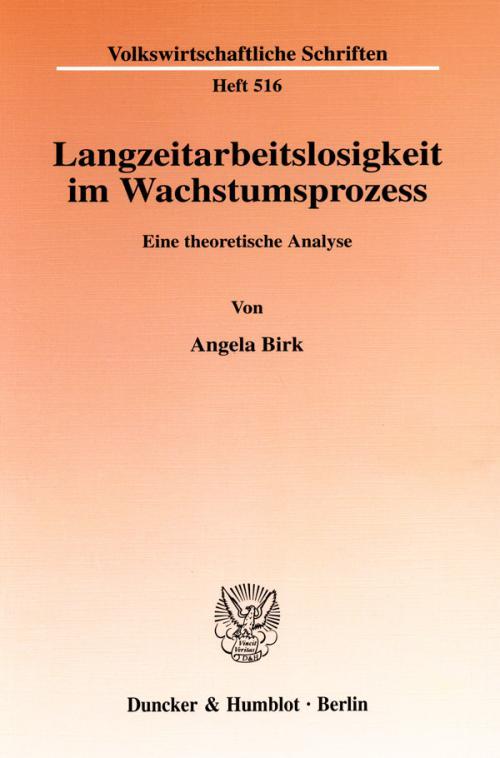Langzeitarbeitslosigkeit im Wachstumsprozess. cover