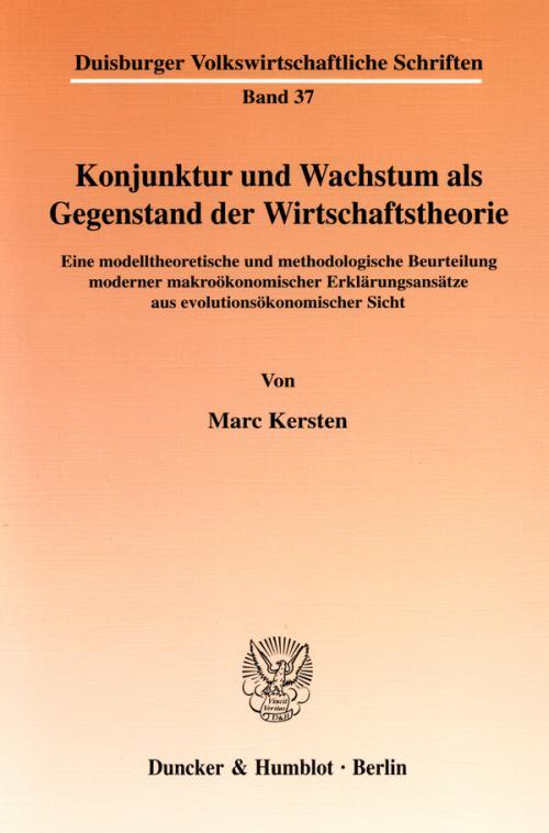 Konjunktur und Wachstum als Gegenstand der Wirtschaftstheorie. cover