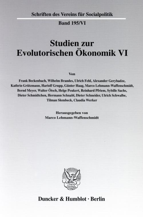 Studien zur Evolutorischen Ökonomik VI. cover