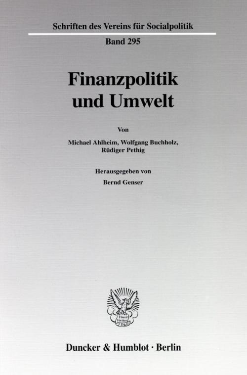 Finanzpolitik und Umwelt. cover