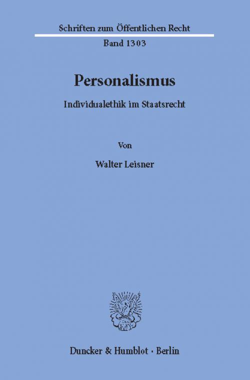 Personalismus. cover