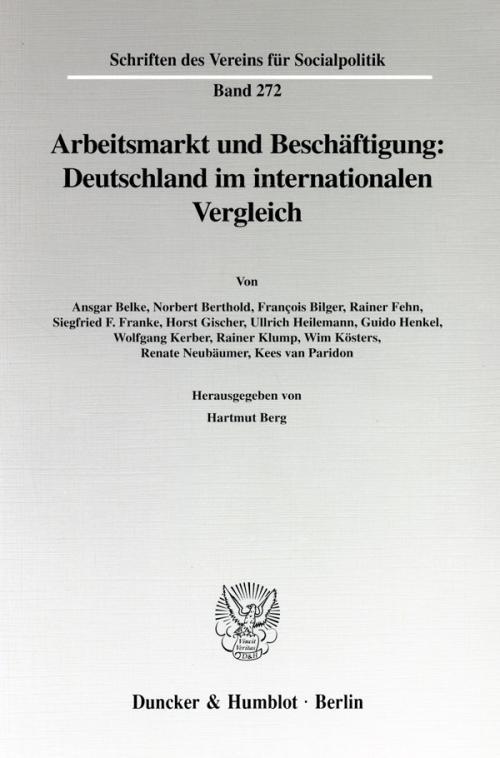 Arbeitsmarkt und Beschäftigung: Deutschland im internationalen Vergleich. cover