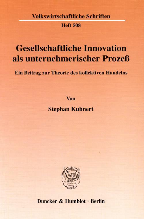 Gesellschaftliche Innovation als unternehmerischer Prozeß. cover