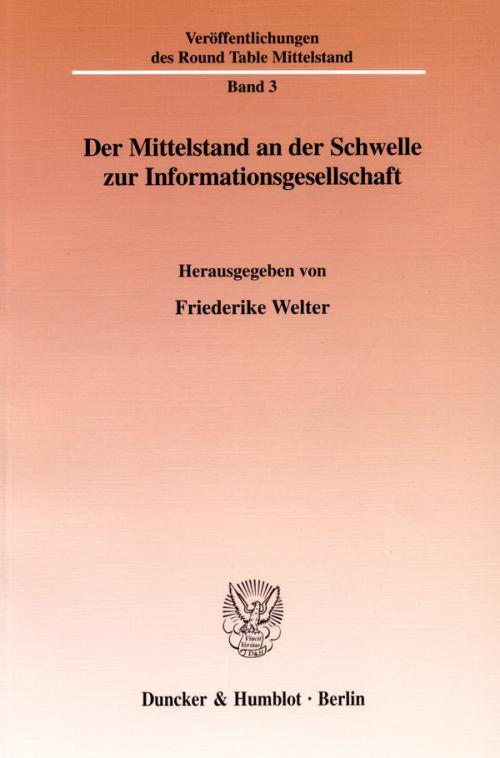 Der Mittelstand an der Schwelle zur Informationsgesellschaft. cover