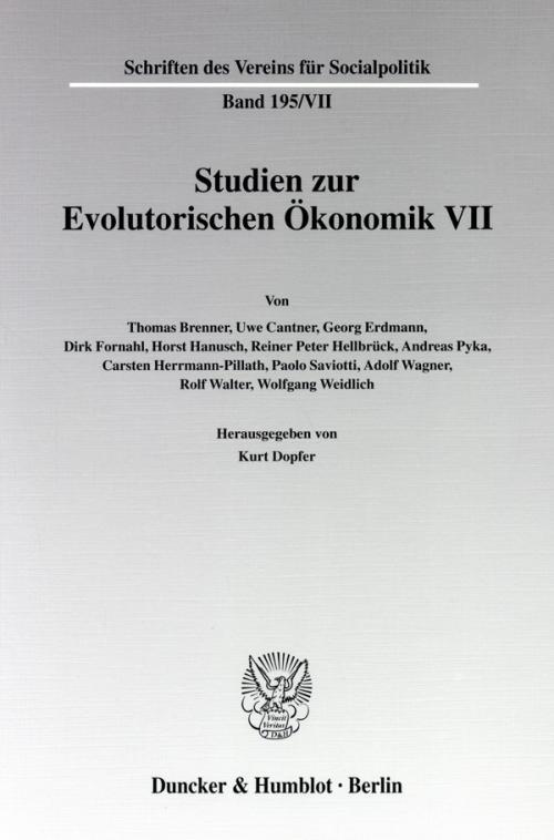 Studien zur Evolutorischen Ökonomik VII. cover