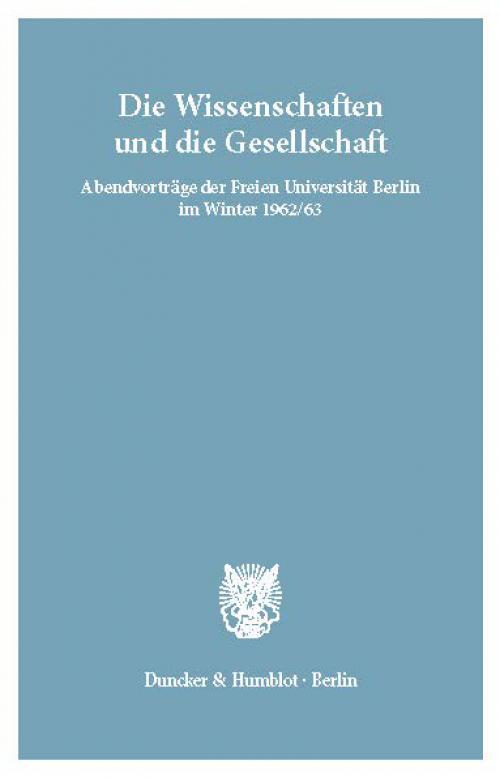 Die Wissenschaften und die Gesellschaft. cover