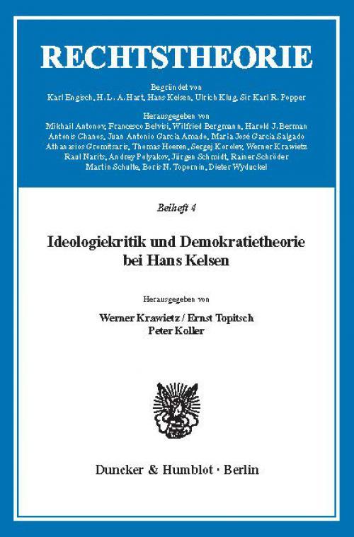 Ideologiekritik und Demokratietheorie bei Hans Kelsen. cover