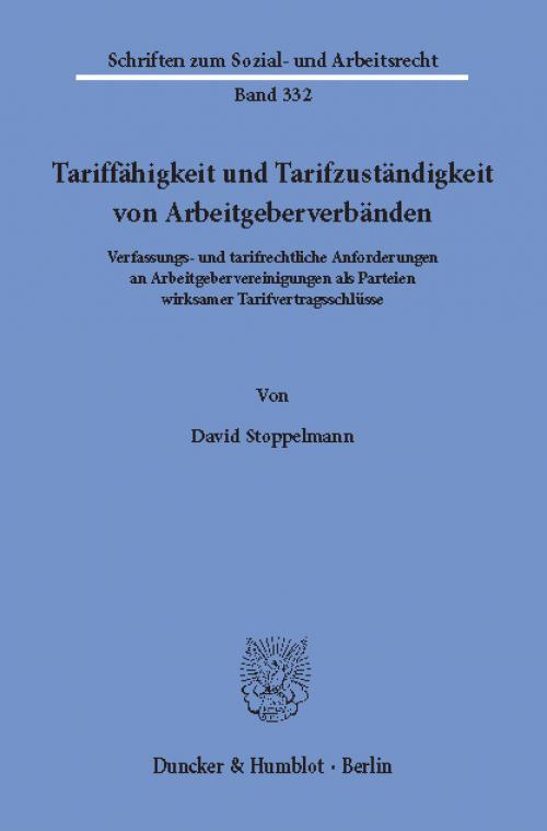 Tariffähigkeit und Tarifzuständigkeit von Arbeitgeberverbänden. cover
