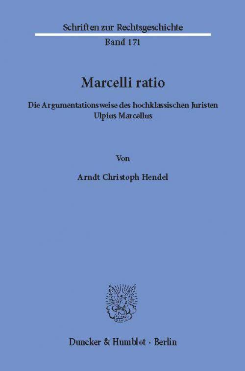 Marcelli ratio. cover