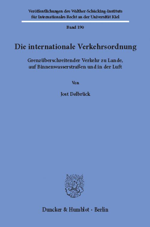 Die internationale Verkehrsordnung. cover