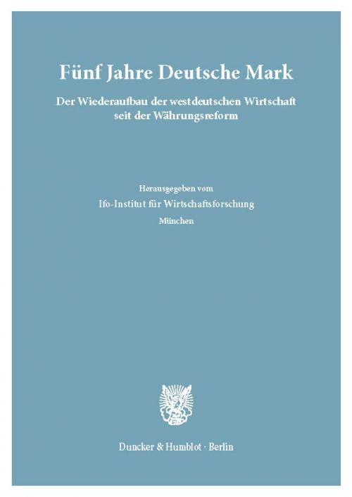 Fünf Jahre Deutsche Mark. cover