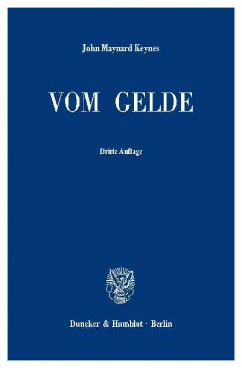 Vom Gelde (A Treatise on Money). cover