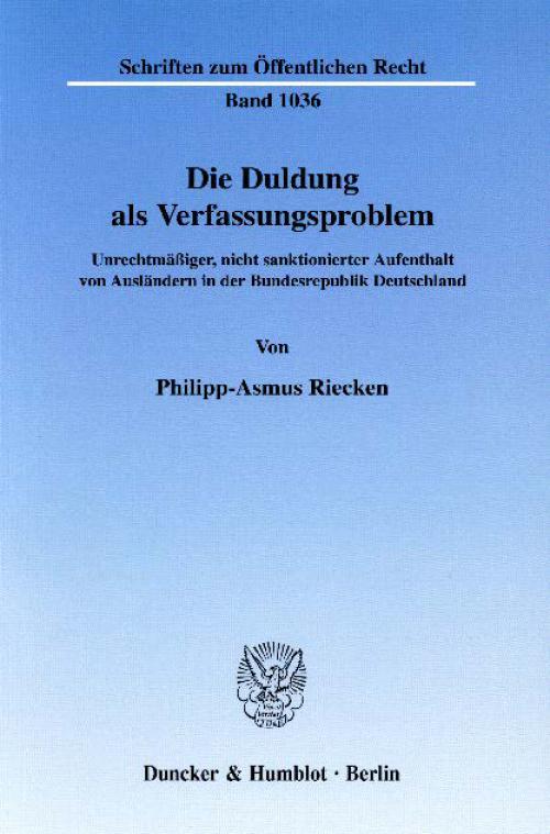 Die Duldung als Verfassungsproblem. cover