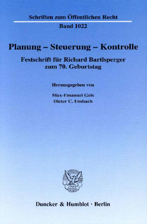 Planung – Steuerung – Kontrolle. cover