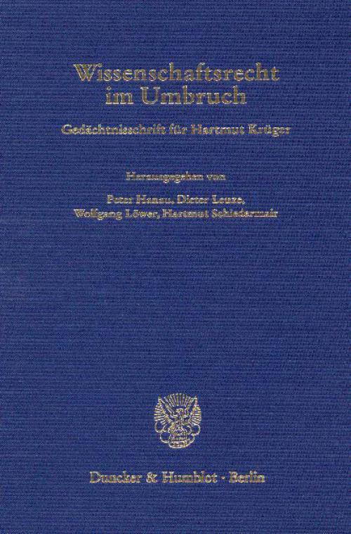 Wissenschaftsrecht im Umbruch. cover